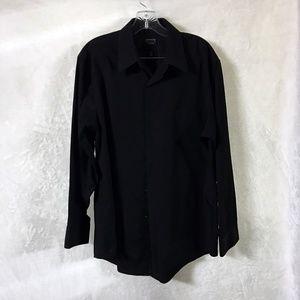 Arrow Fitted Dress Shirt - Black. Sz L
